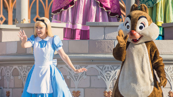 Characters at Cinderella Castle