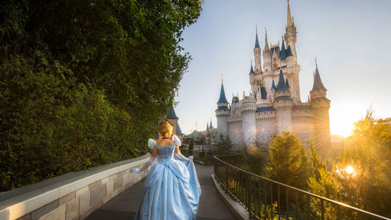 Cinderella and castle at Magic Kingdom Park