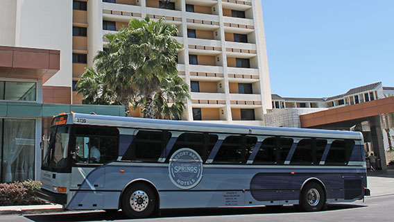Complimentary transportation to Disney Parks