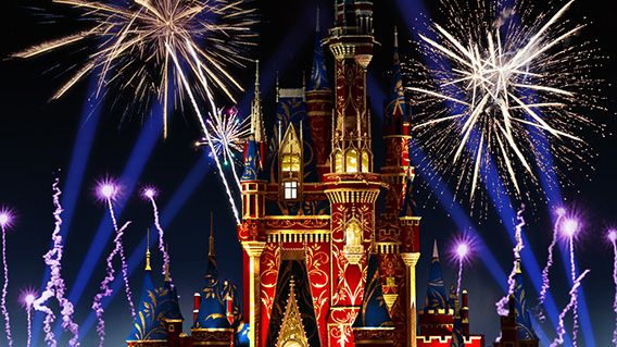 Our all-new night-time spectacle Happily Ever After coming to Magic Kingdom